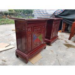 Tủ thờ gia tiên dài 127 gỗ tràm lõi