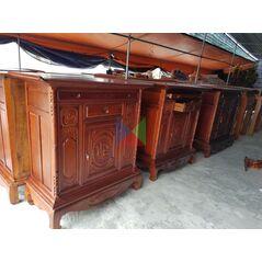 Tủ thờ gia tiên dài 176 gỗ tràm lõi