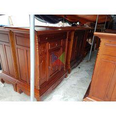 Mẫu tủ thờ đẹp dài 127 gỗ tràm lõi