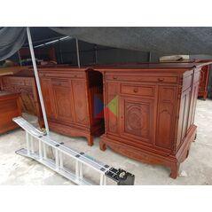 Mẫu tủ thờ đẹp dài 155 gỗ tràm lõi
