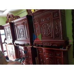 Mẫu tủ thờ đẹp dài 176 gỗ tràm lõi
