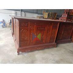 Mẫu tủ thờ đẹp dài 197 gỗ tràm lõi