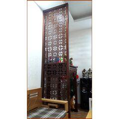 Vách ngăn phòng thờ CNC gỗ tự nhiên 2