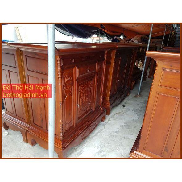 Tủ thờ dài 155 gỗ tràm lõi