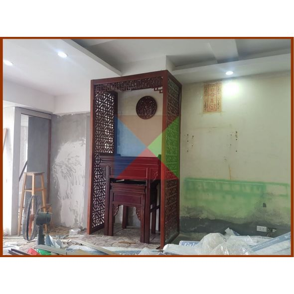 * Bàn thờ chung cư  kèm bàn cơm mẫu hiện đại 107 cho căn hộ bb3