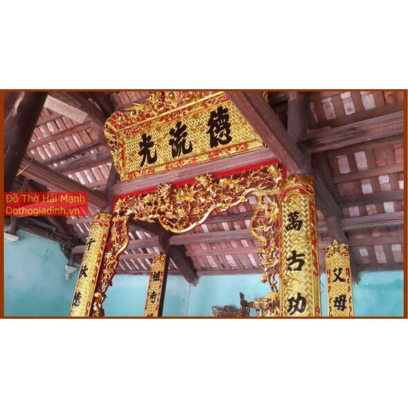 Bộ cửa võng đẹp Tứ Quý - Tùng Cúc Trúc Mai