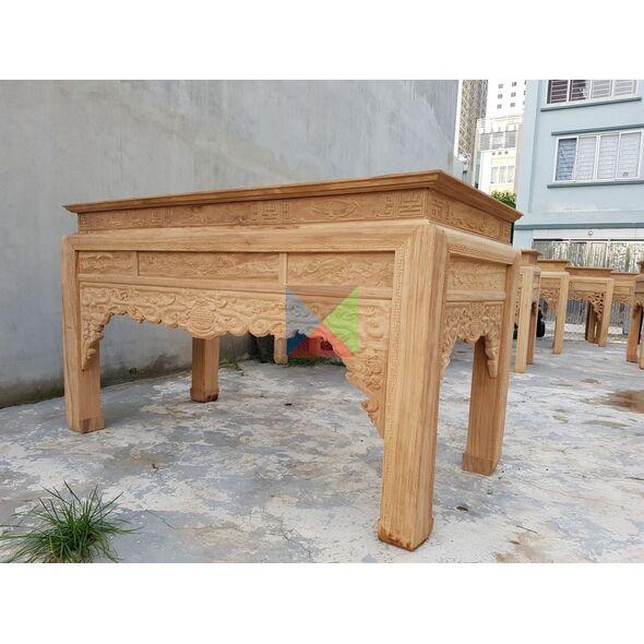 Bàn thờ gia đình mẫu bàn triện dạ như ý, chân vuông HMBT217V