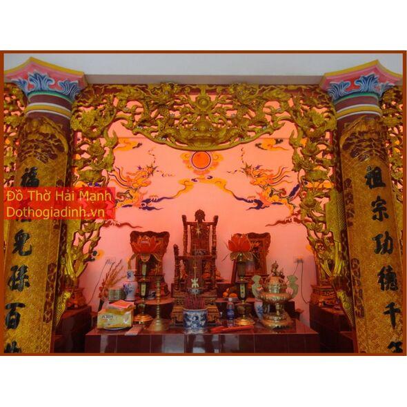 Bộ cửa võng đẹp Tứ linh - Long Ly Quy Phụng